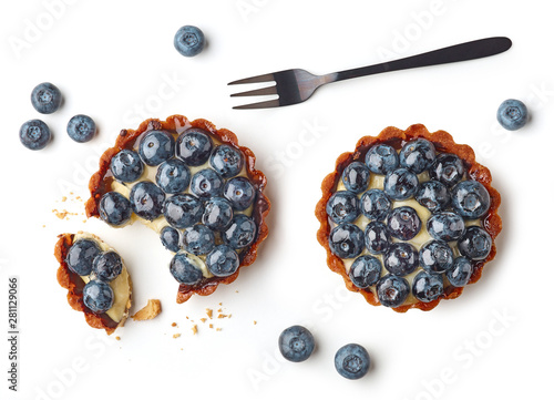 Papel de parede blueberry tart on white background