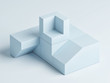Abstract podium in blue background composition, 3d illustration