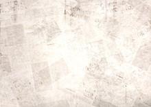Vintage Old Grunge Newspaper Paper Texture Background