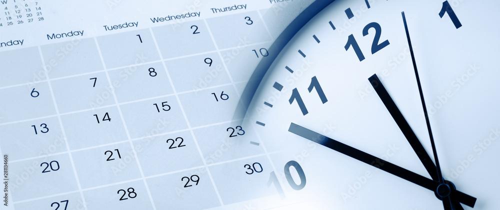 Fototapeta Clock and calendar
