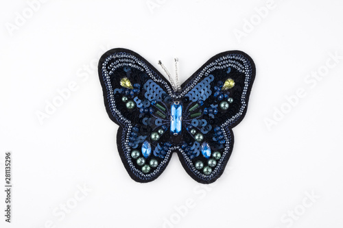 brooch isolated,textile brooch ,accessory isolated Wallpaper Mural