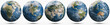 Leinwandbild Motiv Planet Earth weather globe set