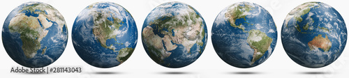 Planet Earth weather globe set Wallpaper Mural