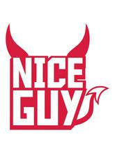 Satan Nice Guy Teufel Böse Hölle Logo Design Cool Nett Sexy Traummann Ehemann Prinz Schön Hübsch Gut Kerl Junge Heiraten