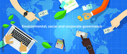 Fotografía  ESG concept of environmental, social and governance in sustainable and ethical business
