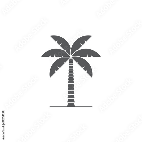 palm tree vector icon symbol isolated on white background Wall mural