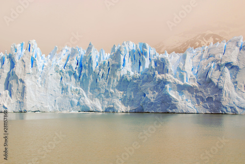 Poster Pays d Asie The Perito Moreno Glacier is a glacier located in the Los Glaciares National Park in the Santa Cruz province, Argentina. It is one of the most important tourist attractions in the Argentine Patagonia
