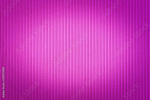 Decorative background magenta, fuchsia, purple color, striped texture vignetted gradient. Wallpaper. Art. Design. - 281170489