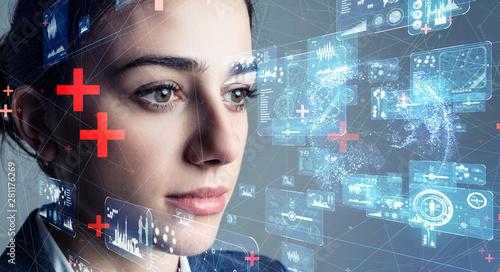 AI セキュリティー Wallpaper Mural