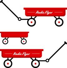 Red Radio Flyer Wagon Vector