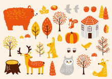 秋セット 秋の動物たち