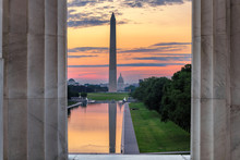 Washington Monument And Reflec...