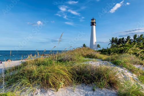 Canvas Print Florida beach with lighthouse