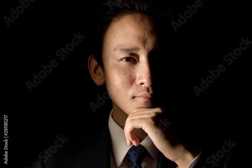 Fotografie, Obraz ビジネスマン・黒バック