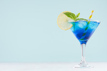 Bright Summer Fresh Blue Fruit...