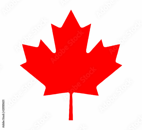 Canadian Maple Leaf From Flag Fototapete