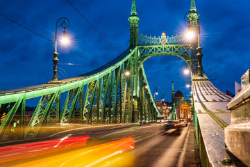 Budapest, Liberty bridge at...