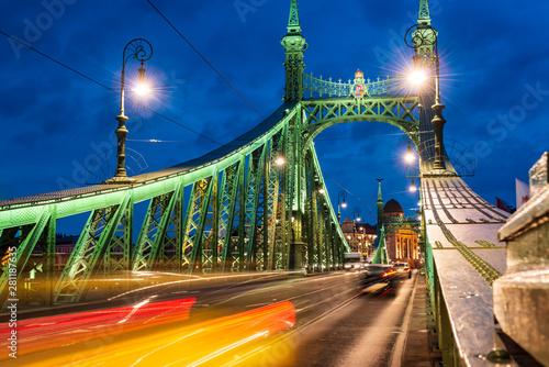 Budapest, Liberty bridge at...