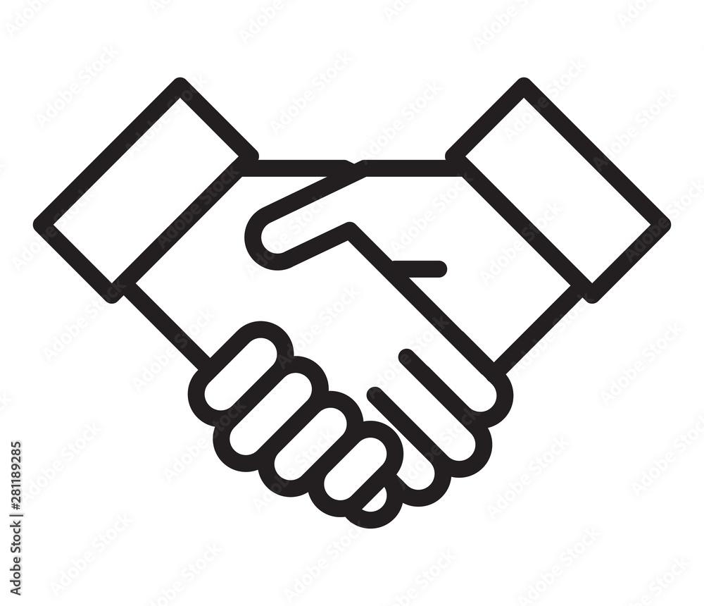 Fototapety, obrazy: Handshake icon