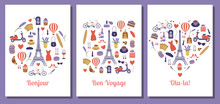 Romantic Travel To France Or Paris Cards