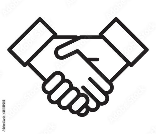Handshake icon Wallpaper Mural
