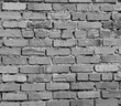 Brick wall background in black and white colors