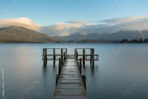 Sunset view of Lake Te Anau,New Zealand