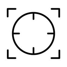 Focal Point Or Focus Icon Design. Vector