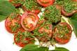 Tomaten mit Schnittlauch und Salbei