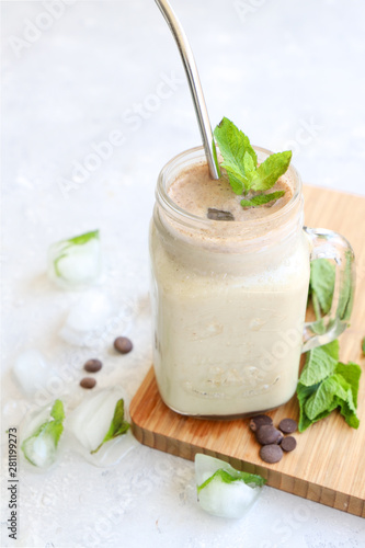 smoothie menthe chocolat Canvas Print