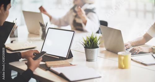 Fotografie, Obraz  Young smart business team discussing new topics