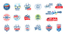 Logo For Bicycle Rental. Vecto...