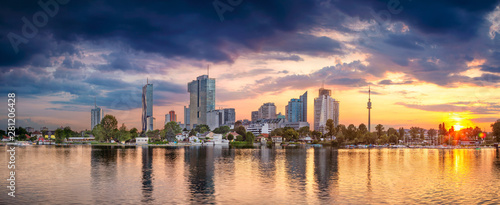 Foto op Canvas Wenen Vienna, Austria. Panoramic cityscape image of Vienna capital city of Austria during sunset.