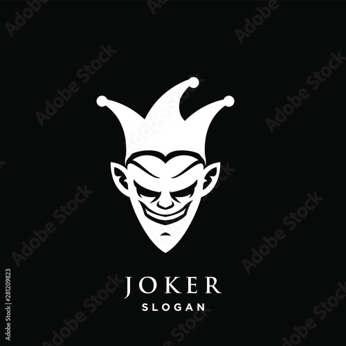 joker logo icon design vector illustration Wallpaper Mural