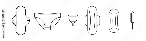 Fotografia  Feminine hygiene products