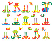 Christmas Elf Feet And Legs Set, Decoration For Celebration