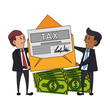 state government taxes business cartoon