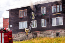 Firefighters On A Retractable ...