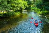 Fototapeta Fototapety do łazienki - Kajaki kajakarstwo rzeka weekend wakacje lato woda sport