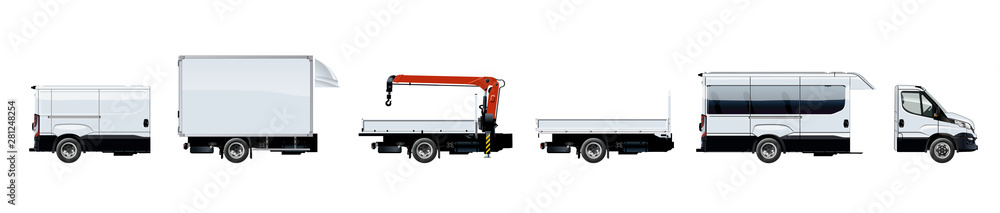 Fototapety, obrazy: Vector truck template isolated on white background