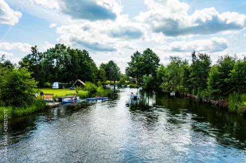 Fototapeta Rzeka kajaki rower wodny lato wakacje urlop obraz