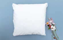 Blank White Cushion Mock Up On...