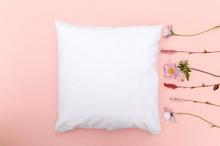 Blank White Cushion Mock Up On...