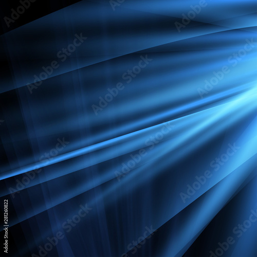 Photo Abstract blue ardent background.