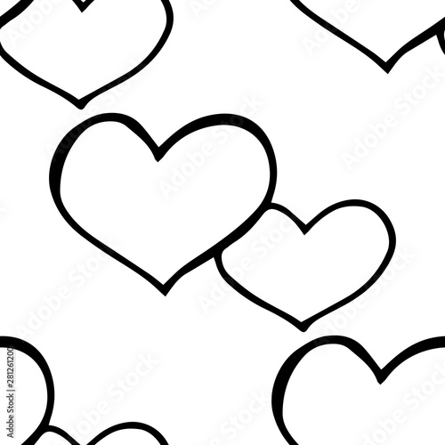 Fototapety, obrazy: Valentine's Day seamless pattern heart
