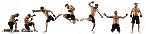 MMA male fighter isolated Tableau sur Toile