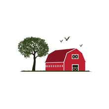 Colorful Barn Illustration Wit...