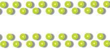Lime Placed Together And Isolated On A White Background With Copy Space