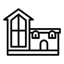 Unusual House Icon. Outline Un...