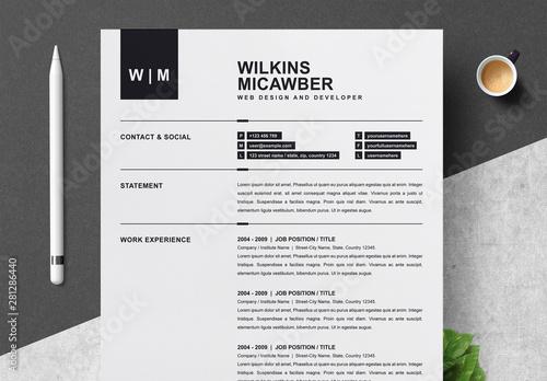 Minimalist Resume Layout with Cover Letter. Kaufen Sie diese ...